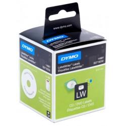 Etiqueta dymo labelwriter de 57 mm. para cd's en papel blanco, caja de 1 rollo de 160 uds.