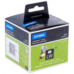 Etiqueta dymo labelwriter de 70x54 mm. en papel blanco, caja de 1 rollo de 320 uds.