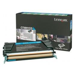 Toner laser lexmark c736/x736/738 cyan.