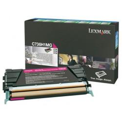 Toner laser lexmark c736/x736/738 magenta.