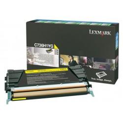 Toner laser lexmark c736/x736/738 amarillo.