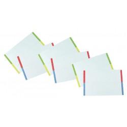 Tira en cartulina para carpeta colgante grafoplas con visor superior largo 290 mm. paquete de 10 hojas en formato din a-4.