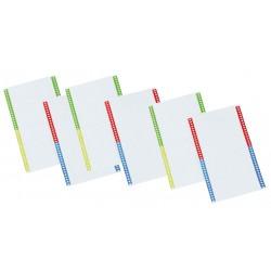 Tira en cartulina para carpeta colgante grafoplas con visor lateral 140 mm. paquete de 10 hojas en formato din a-4.