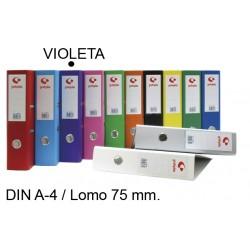 Archivador de palanca grafoplas grafcolor en formato din a-4, lomo 75 mm. violeta.