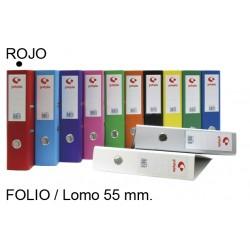 Archivador de palanca grafoplas grafcolor en formato folio, lomo 55 mm. rojo.