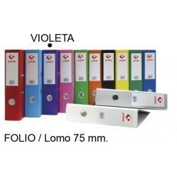 Archivador de palanca grafoplas grafcolor en formato folio, lomo 75 mm. violeta.