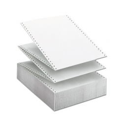 Papel continuo 11x380 mm. blanco 1 tanto.