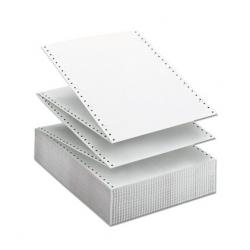 Papel continuo 11x240 mm. blanco 1 tanto 1 trepado.