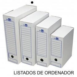 Caja de archivo definitivo liderpapel en formato listados de ordenador, cartón ondulado blanco