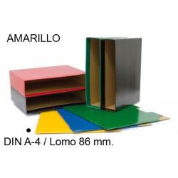 Cajetín archivador de palanca grafoplas grafcolor en formato din a-4, lomo 86 mm. amarillo.