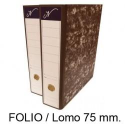 Archivador de palanca jn en formato folio, lomo 75 mm. color jaspeado negro.