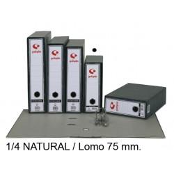 Archivador de palanca grafoplas ecoclassic en formato 1/4 natural, lomo 75 mm. color jaspeado negro.