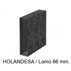Cajetín archivador de palanca grafoplas ecoclassic en formato holandesa, lomo 86 mm. color jaspeado negro.