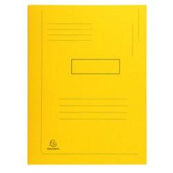 Subcarpeta cartulina con 2 solapas exacompta en formato din a-4, color amarillo.