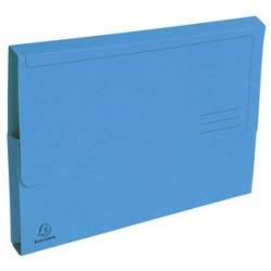 Subcarpeta cartulina con bolsa fuelle y solapa exacompta en formato din a-4, color amarillo.