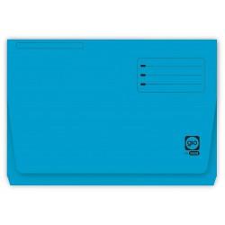 Subcarpeta cartulina con bolsa fuelle y solapa gio by elba en formato folio, color azul.