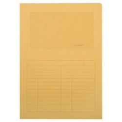 Subcarpeta cartulina con ventana transparente q-connect en formato din a-4, color amarillo.