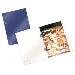 Subcarpeta cartulina plastificada con cubre-grapas gio by elba en formato din a-4, color azul.