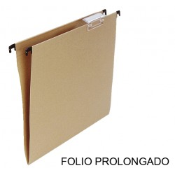 Carpeta colgante grafoplas con visor superior corto en formato folio prolongado bicolor.