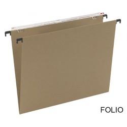 Carpeta colgante grafoplas con visor superior largo en formato folio bicolor.