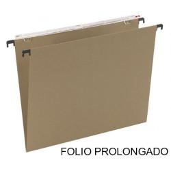Carpeta colgante grafoplas con visor superior largo en formato folio prolongado bicolor.