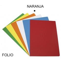 Subcarpeta cartulina grafoplas en formato folio, color vivo naranja.