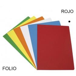 Subcarpeta cartulina grafoplas en formato folio, color vivo rojo.