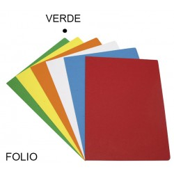 Subcarpeta cartulina grafoplas en formato folio, color vivo verde.