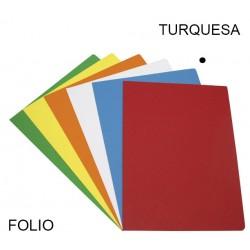 Subcarpeta cartulina grafoplas en formato folio, color vivo turquesa.