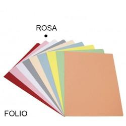 Subcarpeta cartulina grafoplas en formato folio, color pastel rosa.