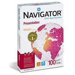 Papel navigator presentation din a-4 de 100 grs. paquete de 500 hojas.
