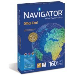 Papel navigator office card din a-4 de 160 grs. paquete de 250 hojas.