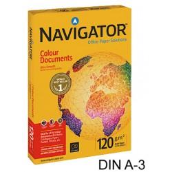 Papel navigator colour documents din a-3 de 120 grs. paquete de 500 hojas.