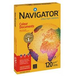 Papel navigator colour documents din a-4 de 120 grs. paquete de 250 hojas.