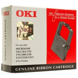 Cinta impresora matricial oki microline 182/280/320/321/3320/3321.
