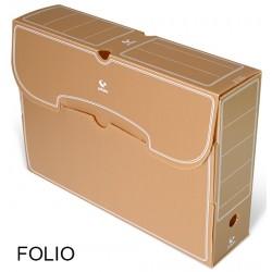Caja de archivo definitivo grafoplas en formato folio, polipropileno marrón.