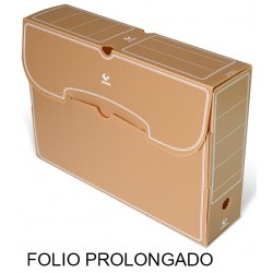 Caja de archivo definitivo grafoplas en formato folio prolongado, polipropileno marrón.