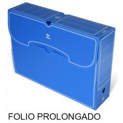 Caja de archivo definitivo grafoplas en formato folio prolongado, polipropileno azul.