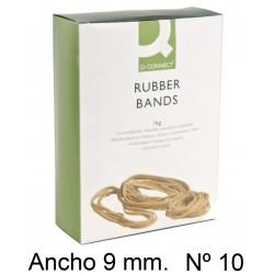 Gomas elásticas q-connect de 100 mm. ancho 9mm. caja de 100 grs. con ventana.