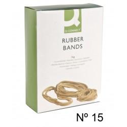 Gomas elásticas q-connect de 150 mm. caja de 1 kg.
