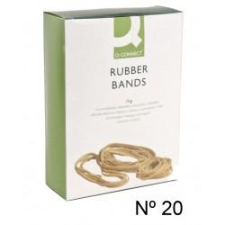 Gomas elásticas q-connect de 200 mm. caja de 1 kg.