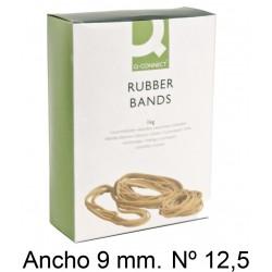 Gomas elásticas q-connect anchas de 125x9 mm. caja de 1 kg.