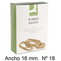 Gomas elásticas q-connect anchas de 180x16 mm. caja de 1 kg.