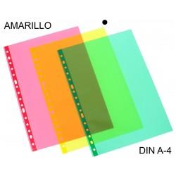 Funda multitaladro en polipropileno de galga extra grafoplas en formato din a-4 color verde transparente.