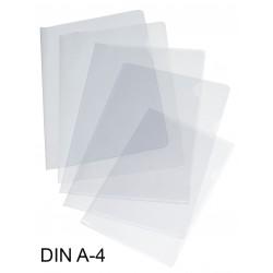 Dossier con uñero en polipropileno piel de naranja grafoplas en formato din a-4 color transparente.