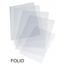 Dossier con uñero en polipropileno piel de naranja grafoplas en formato folio, color transparente.