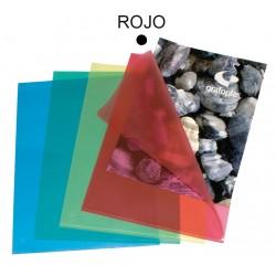 Dossier con uñero en polipropileno piel de naranja grafoplas en formato din a-4 color verde transparente.