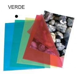 Dossier con uñero en polipropileno piel de naranja grafoplas en formato folio color transparente azul.