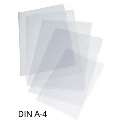 Dossier con uñero en pvc de 150 micras grafoplas en formato din a-4, color transparente.