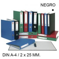 Carpeta de 2 anillas mixtas de 25 mm. grafoplas grafcolor en formato din a-4, color negro.